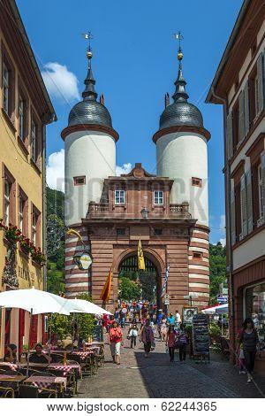 Bridge And Town Gate Of Heidelberg, Germany