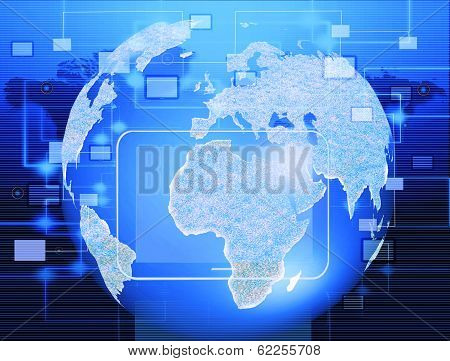 image based on the world and technology in business.