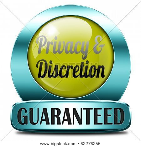 private and personal information icon, banner for privacy protection and discretion of restricted info
