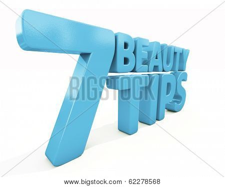 Beauty tips con on a white background. 3D illustration. poster