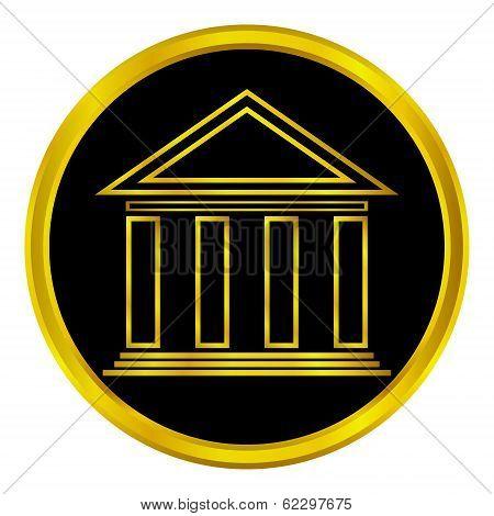 Gold Bank Button
