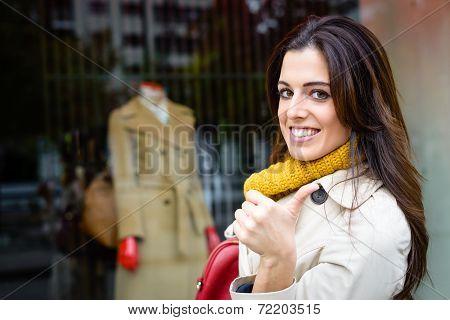 Modern City Woman Shopping Success