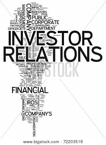 Word Cloud Investor Relations