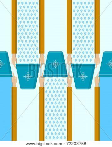 Vector background for Ice Bucket Challenge.