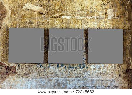 Three Empty Painting Frames