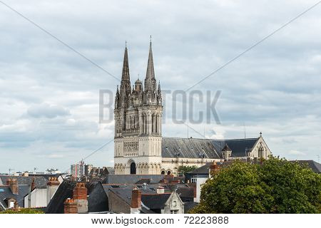 View Of The Cathedral Saint Maurice, Angers (france)