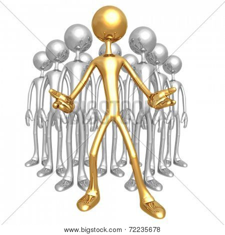Quality Choice 3D Gold and Silver men at attention