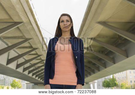 Self Confident Woman In Urban Environment