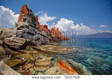Red rocks of Arbatax, Sardinia