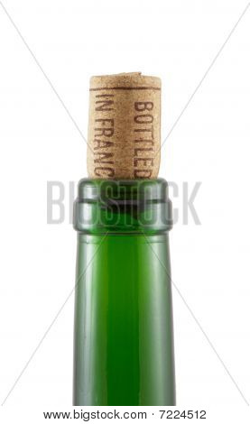 Bottleneck And Cork With Inscription