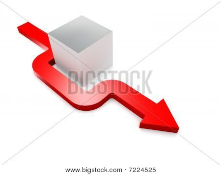 Conceptual 3D Rendered Image Of Arrow