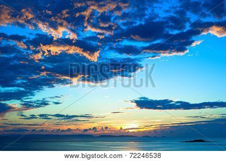 Evening beach of Okinawa