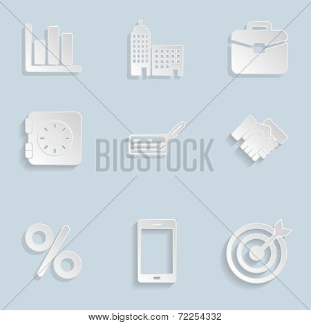 Business Paper Icons Set Vol 2
