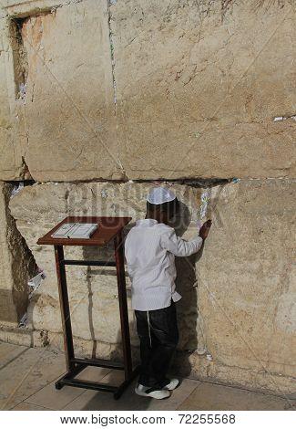 First prayer near Western/Wailing Wall