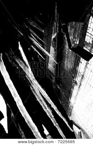 Icicles on industrial background