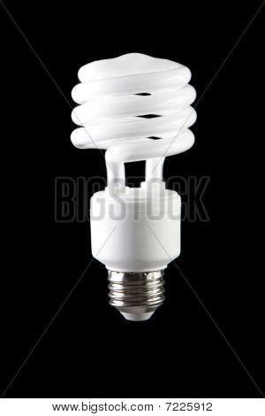 Energy saving lightbulb on black background