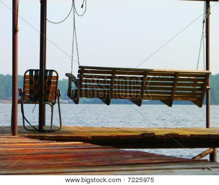 Bench Swing on a Lake