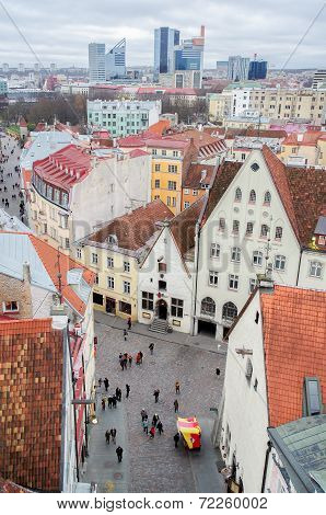 Tallinn - the Old Town. View from the Town Hall.