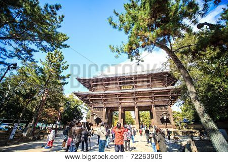 The Wooden Tower Of To-ji Temple In Nara Japan Is The Largest Temple Pagoda In The Country