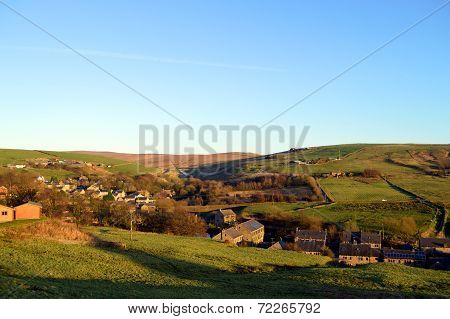 Denshaw village in Saddleworth