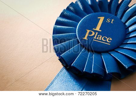 Blue First Place Winner Rosette