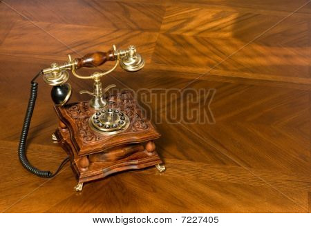 Old-fashioned Telephone On Table