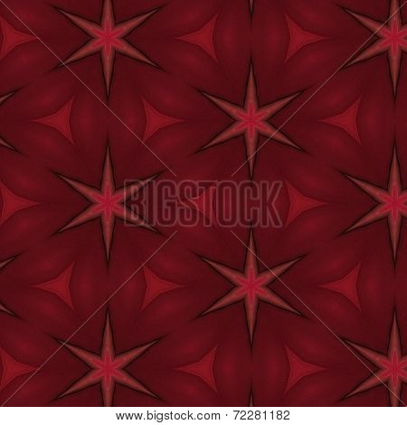 Red stars pattern - Repeatable seamless tiled