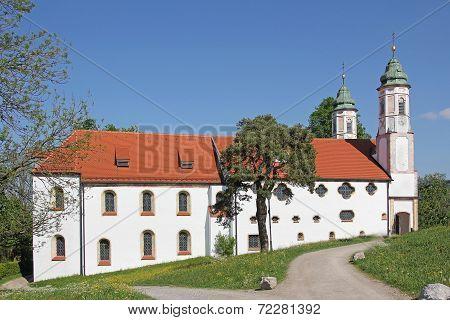 Historic Monastery On Calvary Hill, Bad Tolz, Germany