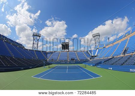 Luis Armstrong Stadium at the Billie Jean King National Tennis Center during US Open 2014 tournamen