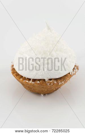cake with Italian meringue and coconut