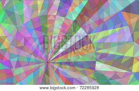 Circular 3D Mesh Geometric Background