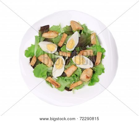 Caesar Salad with croutons.