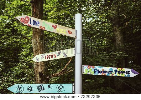 Flower Power Signpost