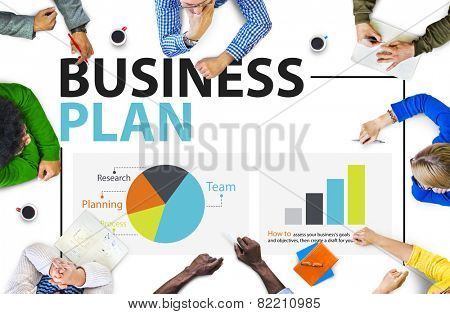 Business Plan Planning Strategy Meeting Conference Seminar Concept poster