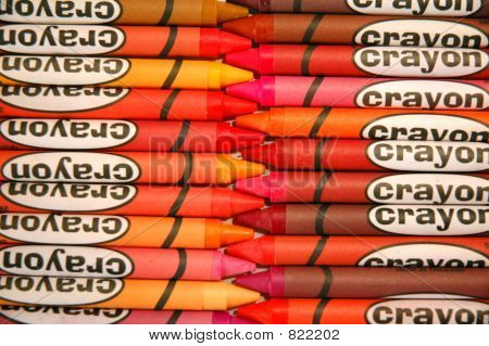 Crayons Lined Up