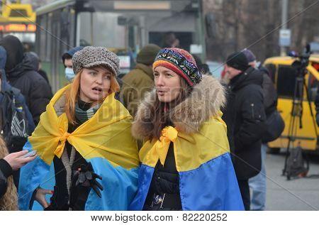 KIEV, UKRAINE - February 2, 2015: Ukrainian nationalists of Battalion