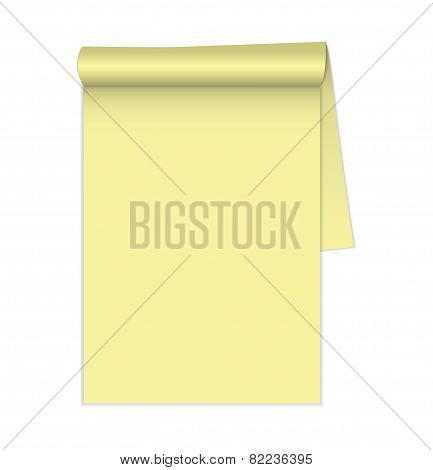 Blank legal pad. Vector. isolated on isolated background