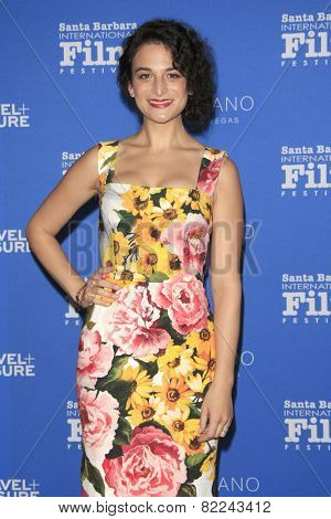 SANTA BARBARA - FEB 1:  Jenny Slate at the Santa Barbara International Film Festival - Virtuosos Award at a Arlington Theater on February 1, 2015 in Santa Barbara, CA