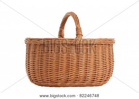 Braided Basket With Wooden Handles