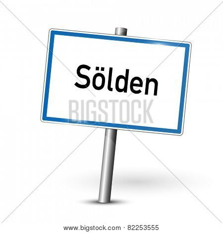 City sign - Solden - Austria