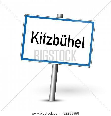 City sign - Kitzbuhel - Austria