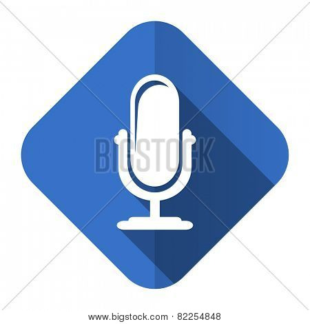 microphone flat icon podcast sign