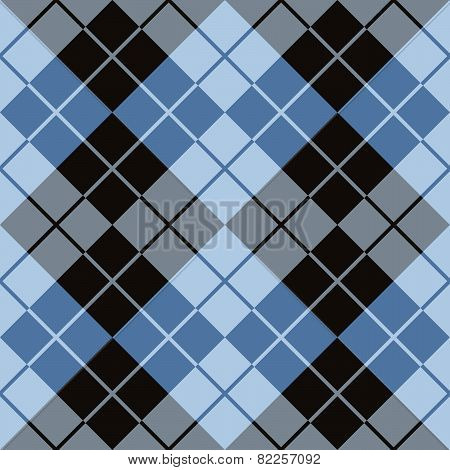 Argyle Design in Black and Blue