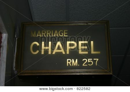 City Hall Wedding Chapel Sign