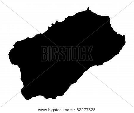 Map Of Santo Antao
