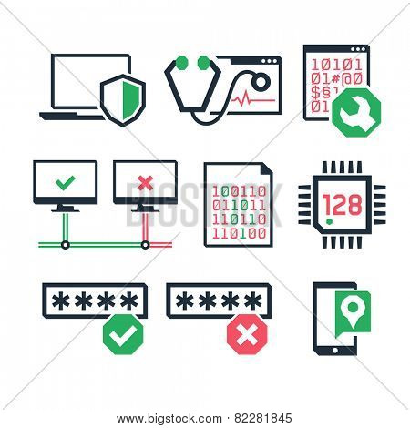Computer repair icons set 03  // Color