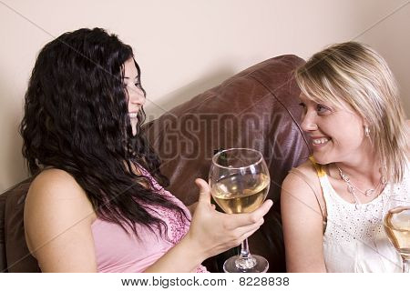 Friends Socializing At Home