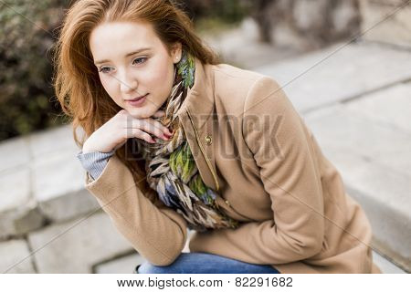 Young Red Hair Woman