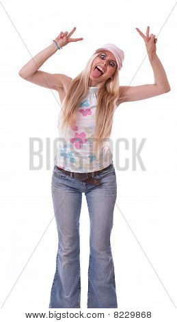 Crazy Young Woman