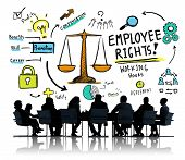 Employee Rights Employment Equality Job Business Meeting Concept poster
